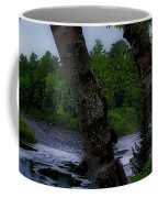 Viewing Tahquamenon Lower Falls Upper Peninsula Michigan Panorama 02 Coffee Mug