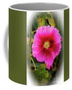 Vigenetted Hollyhock Coffee Mug