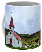 Vik Church And Cemetery - Iceland Coffee Mug