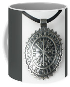 Viking Vegvisir Rune Calendar Sterling Silver Pendant Coffee Mug