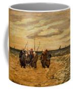 Viktor Ivanovich Zarubin Russian 1866  1928 Fisherwomen In Normandie Coffee Mug