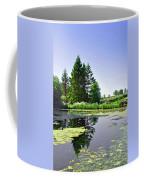 Village Pond At Tissington Coffee Mug
