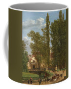 Villagers And Animals In A Landscape Beside A Bridge At The Entrance Of A Village Coffee Mug
