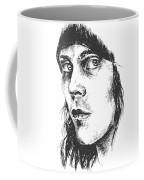 Ville Valo Portrait Coffee Mug by Alexandra-Emily Kokova