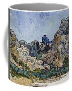Vincent Van Gogh  Mountains At Saint Remy Coffee Mug