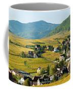 Vineyards In Autumn In The Morning Coffee Mug