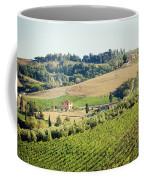Vineyards With Stone House, Tuscany, Italy Coffee Mug