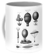 Vintage Aeronautics - Early Balloon Designs Coffee Mug