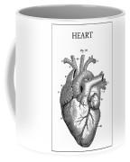 Vintage Anatomical Heart Coffee Mug