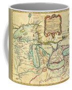 Vintage Antique Map Of The Great Lakes Coffee Mug
