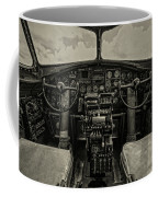 Vintage B-17 Cockpit Coffee Mug