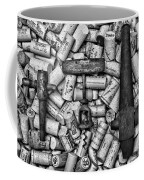 Vintage Barrel Taps And Cork Screw Black And White Coffee Mug