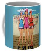 Vintage Beach Scene - Holiday At The Seashore Coffee Mug