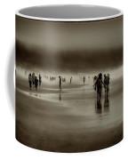 Vintage Beach Walk Coffee Mug by David Patterson
