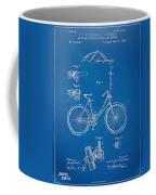 Vintage Bicycle Parasol Patent Artwork 1896 Coffee Mug