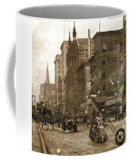 Vintage Bike Lady Coffee Mug
