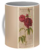 Vintage Burlap Floral 3 Coffee Mug