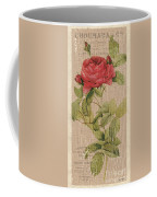 Vintage Burlap Floral Coffee Mug