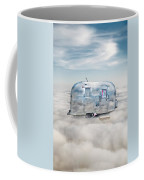 Vintage Camping Trailer In The Clouds Coffee Mug