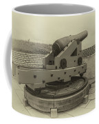 Vintage Cannon At Fort Moultrie Coffee Mug