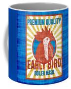 Vintage Early Bird Boiler Mash Feed Bag Coffee Mug