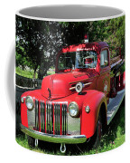 Vintage Fire Truck Coffee Mug
