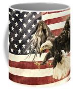 Vintage Flag With Eagle Coffee Mug