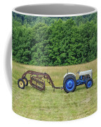 Vintage Ford Blue And White Tractor On A Farm Coffee Mug