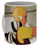 Vintage French Art Deco Woman Golfer, Flapper Woman Golfing Coffee Mug