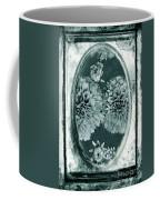 Vintage Glass Cyanoplate Dahlias Coffee Mug