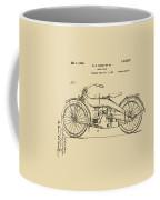 Vintage Harley-davidson Motorcycle 1924 Patent Artwork Coffee Mug by Nikki Smith