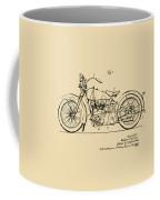 Vintage Harley-davidson Motorcycle 1928 Patent Artwork Coffee Mug