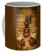 Vintage Manual Grinder And Coffee Beans Coffee Mug
