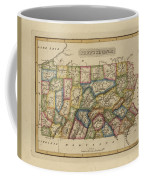 Antique Map Of Pennsylvania Coffee Mug