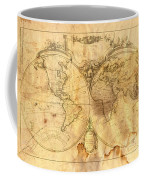 Vintage Map Of The World Coffee Mug by Michal Boubin