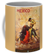Vintage Mexico Bullfight Travel Poster Coffee Mug