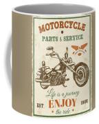 Vintage Motorcycling Mancave-c Coffee Mug