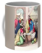 Vintage Nativity Scene Coffee Mug