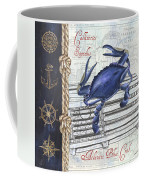Vintage Nautical Crab Coffee Mug