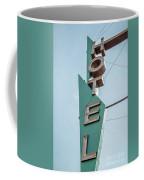 Vintage Neon Sign Hotel Livingston Montana Coffee Mug