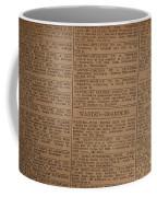 Vintage Old Classified Newspaper Ads Coffee Mug