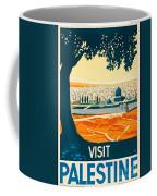 Vintage Palestine Travel Poster Coffee Mug