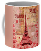 Vintage Paris And Roses Coffee Mug
