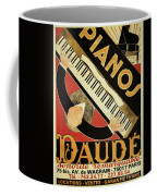 Vintage Piano Art Deco Coffee Mug