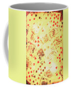Vintage Poker Background Coffee Mug