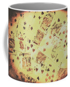 Vintage Poker Card Background Coffee Mug