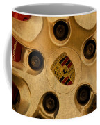 Vintage Porsche Wheel Logo Coffee Mug