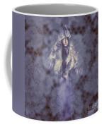 Vintage Portrait. Elegant Girl Wearing Lace Veil Coffee Mug