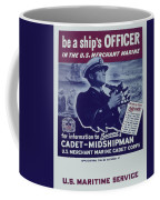 Vintage Poster - Be A Ship's Officer Coffee Mug