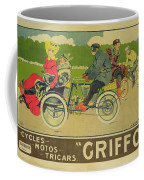 Vintage Poster Bicycle Advertisement Coffee Mug